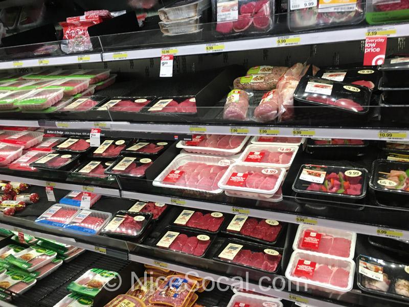 ターゲットで肉を買う