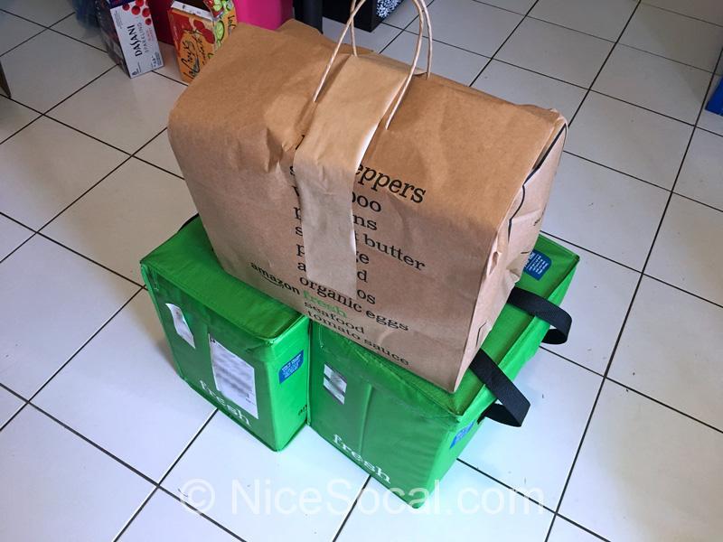 アマゾンフレッシュの荷物
