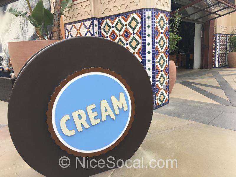 cream sign