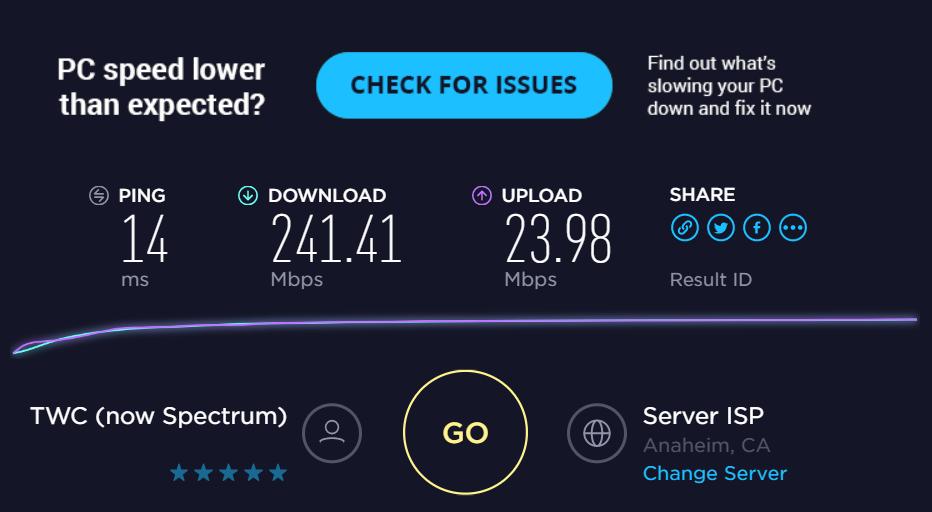 インターネットの速度テスト