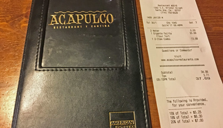 レストランの会計