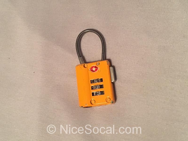 TSAの南京錠