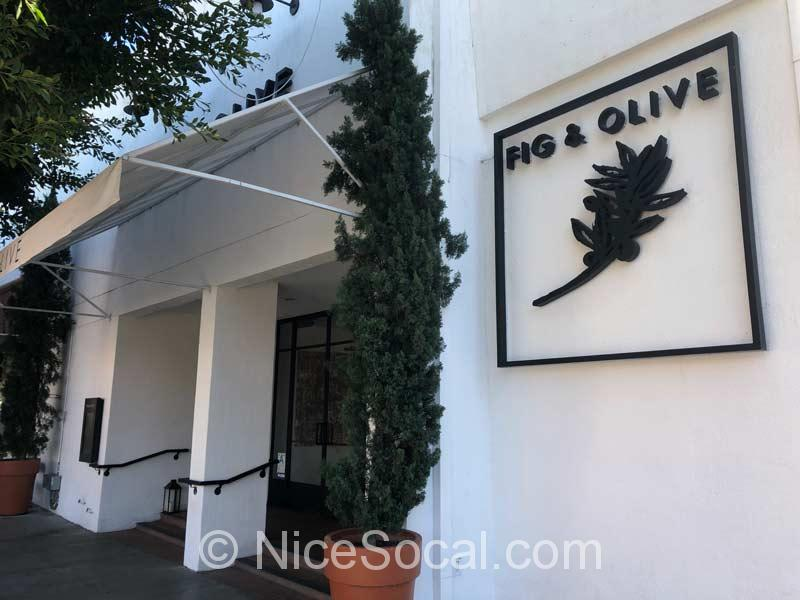 fig and olive entrance